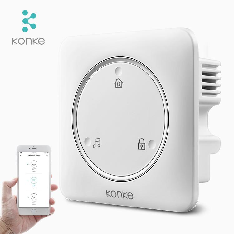 Eliges Konke aplicación de control inteligente casa interruptor inalámbrico de bricolaje interruptor de pared zigbee de