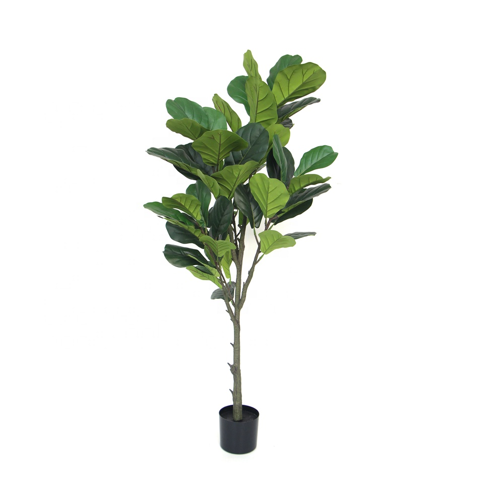 Decorative indoor green simulation trees plant potted artificial banyan tree