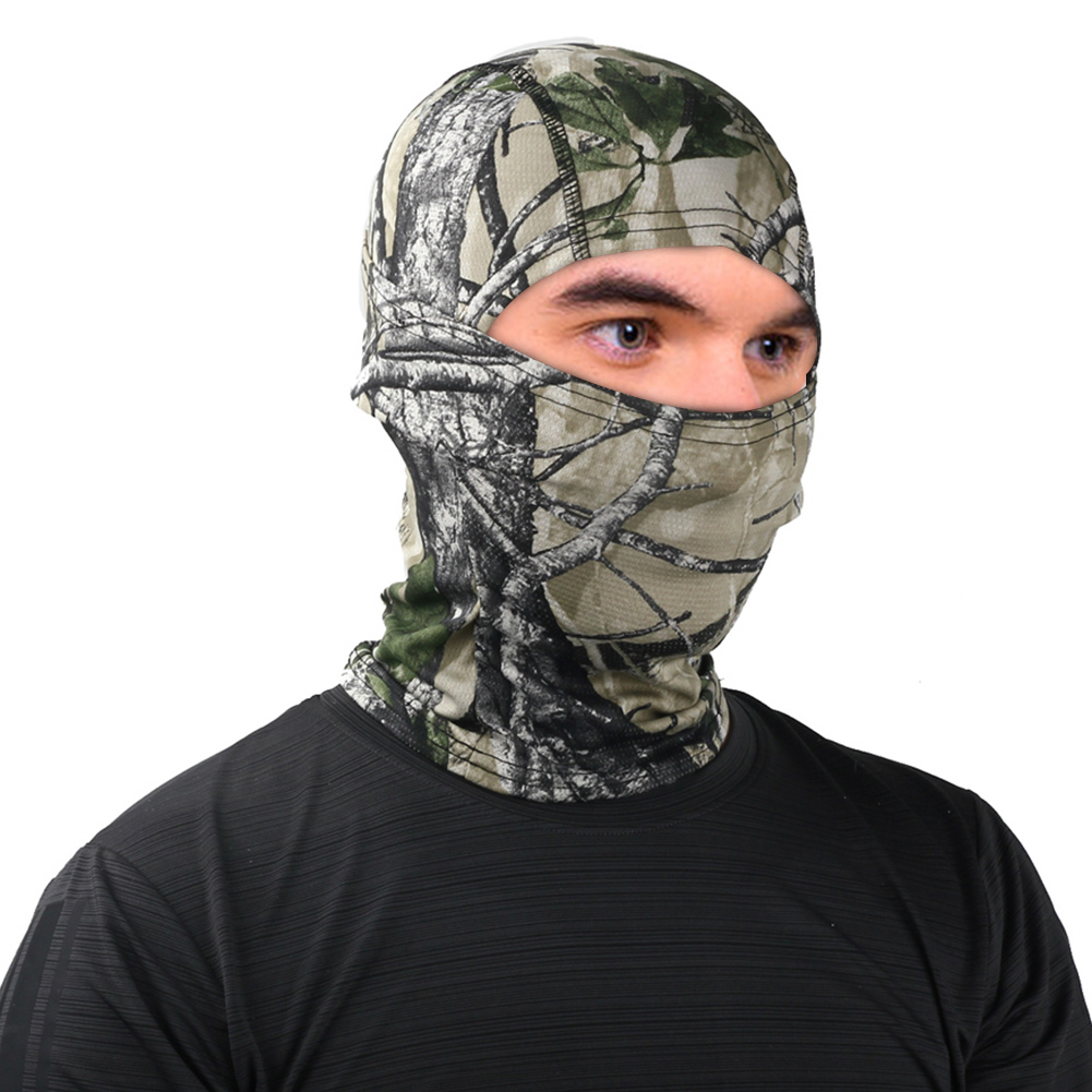 Balaclava Face  UV Protection Windproof Hood Tactical Balaclava for Ski Cycling Outdoor Fishing Hunting Camo