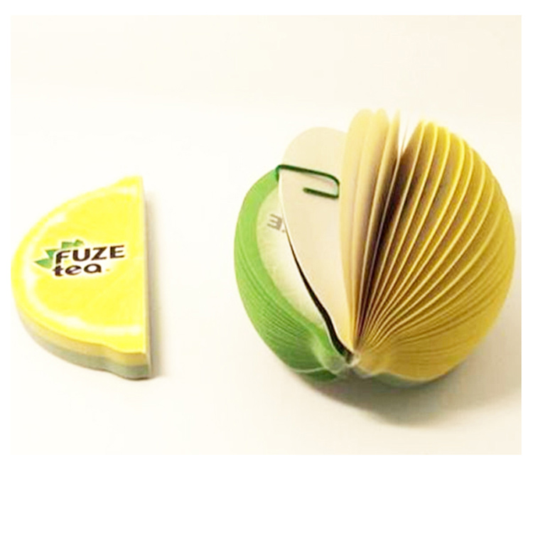 Angepasst Design Obst Shaped Memo Pad Selbst-Adhesive Sticky Notizblock