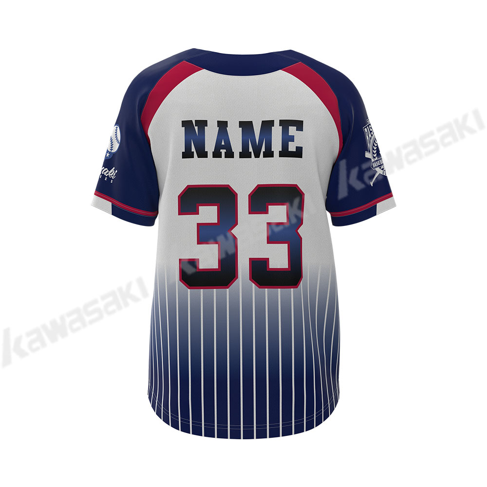 100% polyester full dye sublimated custom made wholesale softball baseball jersey
