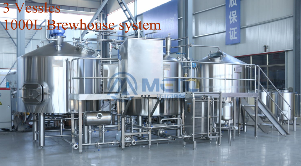 METO Microbrewery fermenting Equipment brewpub SUS304 or SS316 Steam 1000L Beer brewery machine