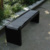 Arlau antique backless bench chair black powder coated steel park waiting bench