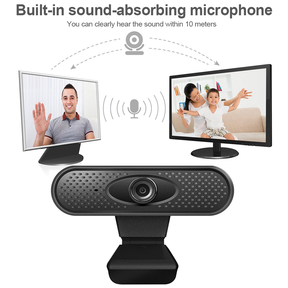 Full HD 1080P Webcam USB Pc Computer Camera with Microphone for Online Teaching Live Broadcast