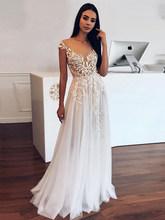 LORIE Boho кружевное свадебное платье с рукавами-крылышками винтажные Кружевные Аппликации Свадебные платья Vestido De Novia на заказ(China)