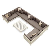 Giardino Outdoor Modern Fabric Garden Sofas European Style L Shaped Cheap Divano Sectional Set