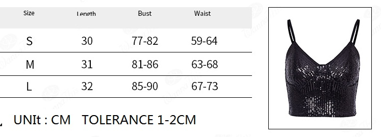 Women Sleeveless Tank Top Sexy Female V-Neck Sequined Camisole Club Girls Spaghetti Shiny Glitter Bling Vest