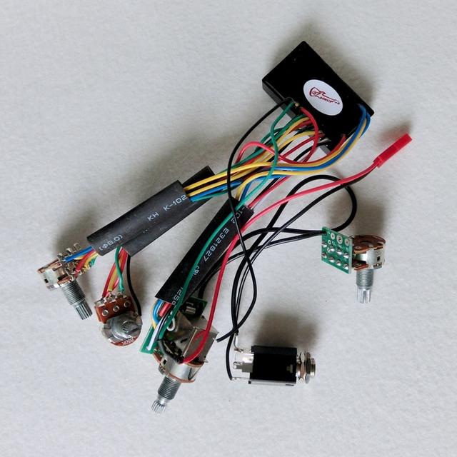 Circuit de ramassage guitare basse pr/éampli c/âblage Circuit Pickup pour guitare basse /électrique instrument de musique accessoire