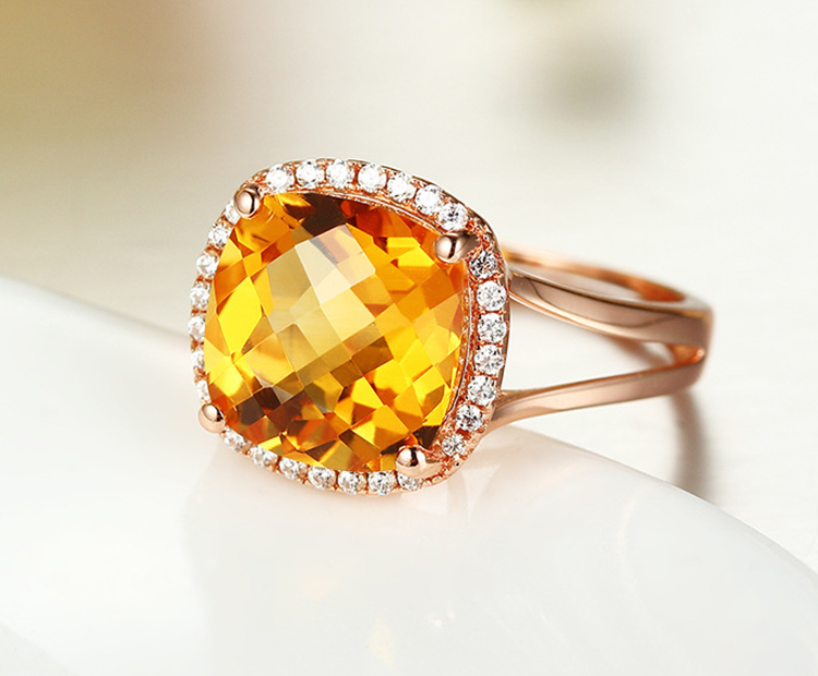 Yellow topaz gold wedding rings with diamond for men
