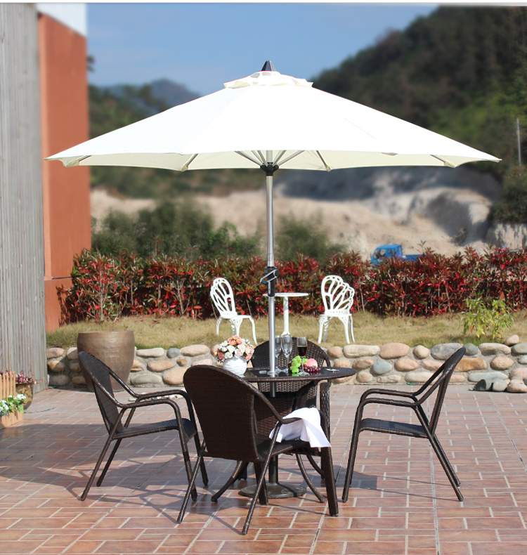 Hot verkoop factory aanbieding groot formaat center pole Outdoor zonnescherm promotionele aluminium paraplu parasol