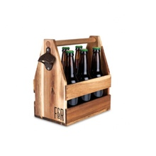 OEM geschenk Holz Bier Caddy halter <span class=keywords><strong>box</strong></span> mit flasche opener <span class=keywords><strong>tafel</strong></span>