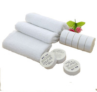 Compressed solid color cheap hand tablets Towel