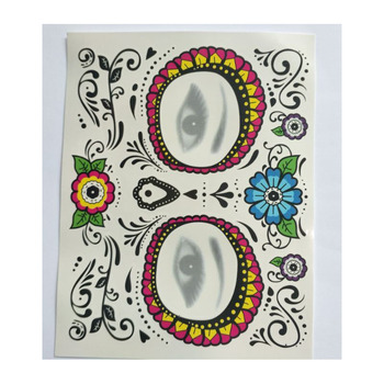 Halloween Sugar Skull Temporary Face Tattoo Kit for Day Of The Dead