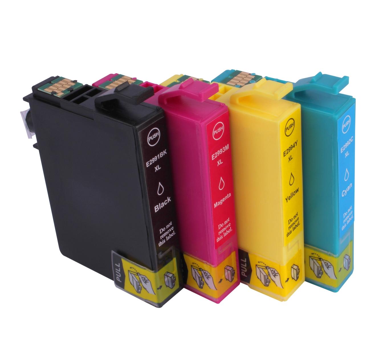 고수익 일회용 칩 프린터 T2992 엡손 XP-352 XP-355 XP-452 XP-455