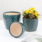 Pot Garden Ceramic Plant Pot Reactive Glaze Ceramic Flower Pot Garden Planter Set Of 3 Indoor Outdoor Modern Nordic Style Plant Container