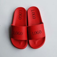China wholesale plain custom sandal slide,custom logo pvc slide sandal slipper red slide sandal men