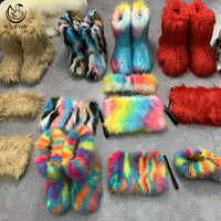 US EURO Big size winter fur snow boots women winter indoor with wholesale cheap price