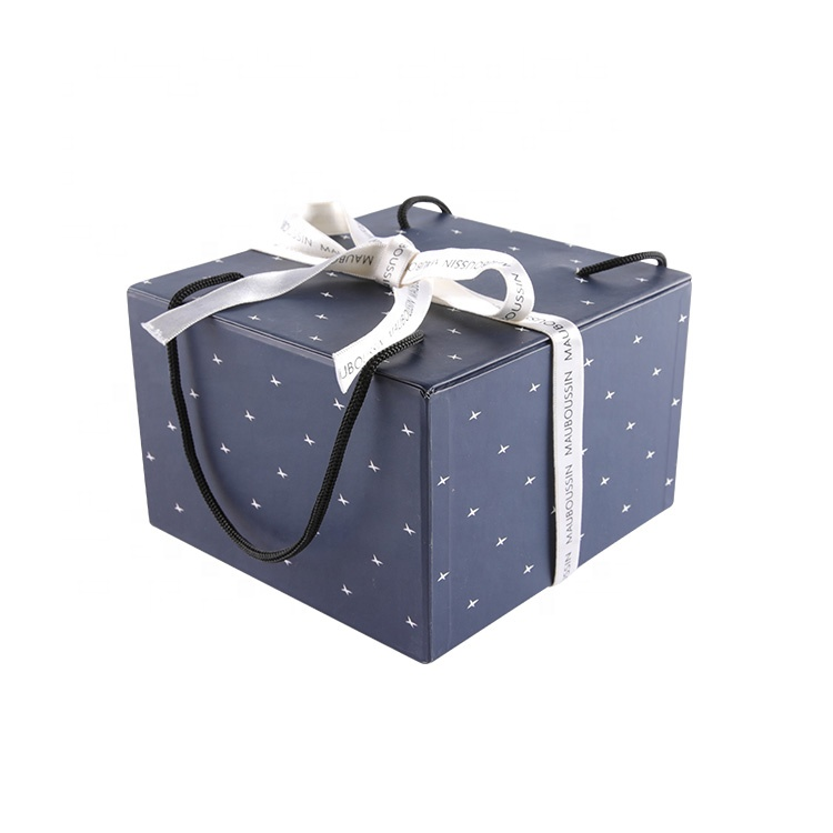 Exquisite drawer paperboard gift box with handle