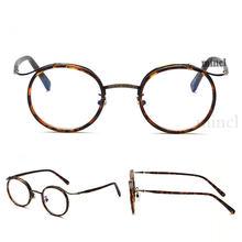 Ацетатные оптические очки оправа для мужчин полный Ретро винтажный круглый рецепт очки женские черные леопардовые прозрачные близорукост...(Китай)