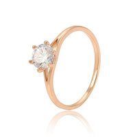 13933 big crystal diamond wedding rings, custom design rose gold rings jewelry women, wholesale engagement ring for women