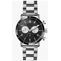 business men all stainless steel swiss movement quartz watch