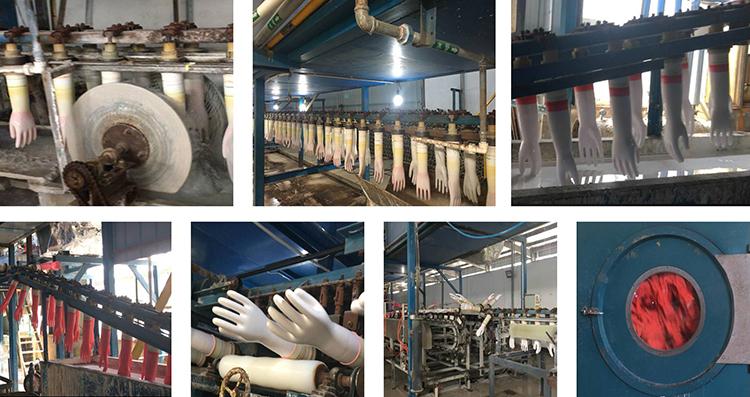 Offre Spéciale jaune nettoyage en caoutchouc ondulé main gant de nettoyage