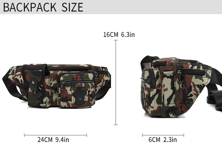 Oxford fashion waist bag hot sales simple daily bags factory Fanny pack customized men's bag
