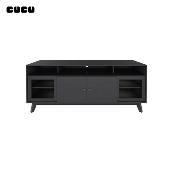 Chinese Living Room Furniture Simple Modern New Design Wood MDF Picture latest Corner Floor Cabinet TV Stand With sliding door