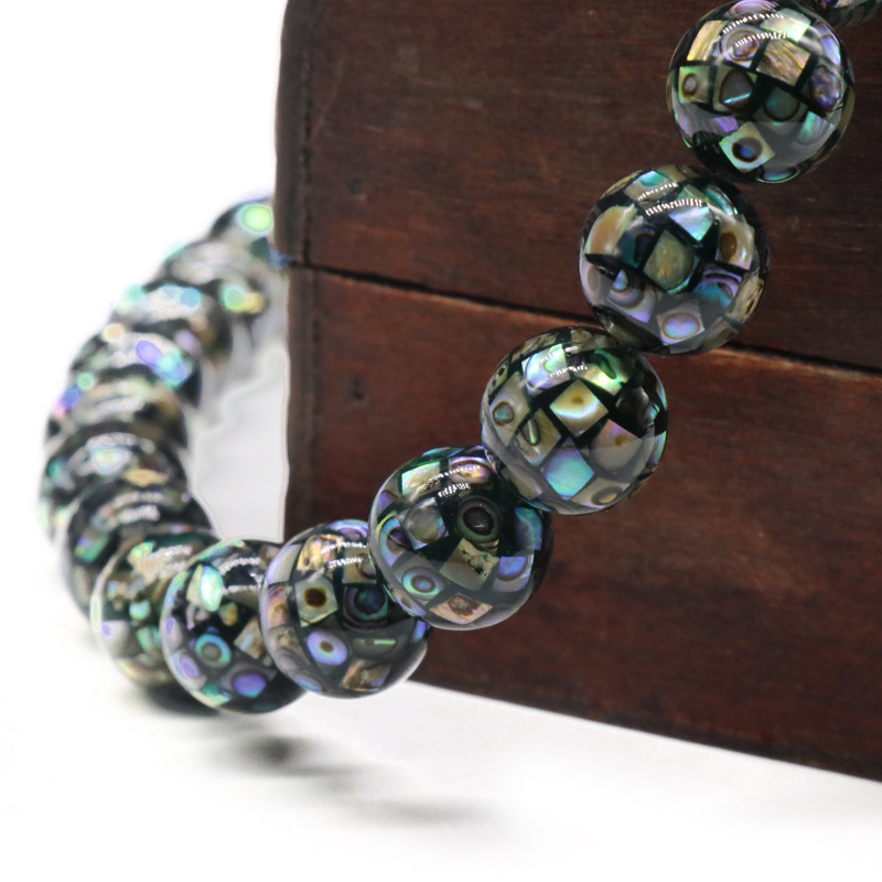 Natural abalone Mosaic Mosaic ball beads beads shell beads child diy handmade accessories wholesale