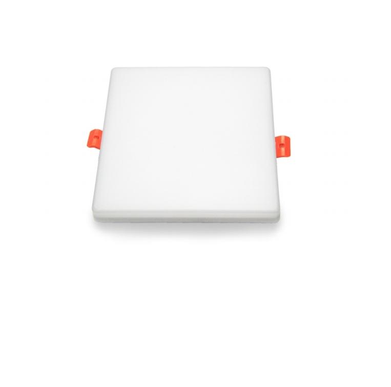 New led downlight integral square bezel-less panel light Hotel exhibition hall embedded straight light panel light