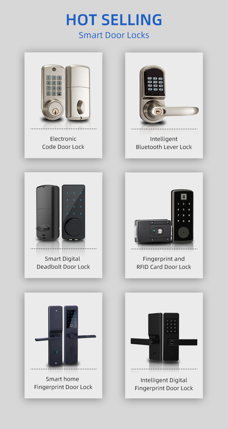 Bluetooth נעילה חכם דלת נעילת מתכוונן 2020 טביעות אצבע דלת מנעול ttlock בית חכם ביומטרי קוד פין נעילה