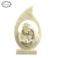 In Stock Polyresin Decorative Nativity Sets Holy Family Figurine For Home Decor