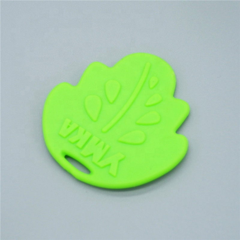 Green Leaf Shape Baby Silicone Teethers Teething Toys