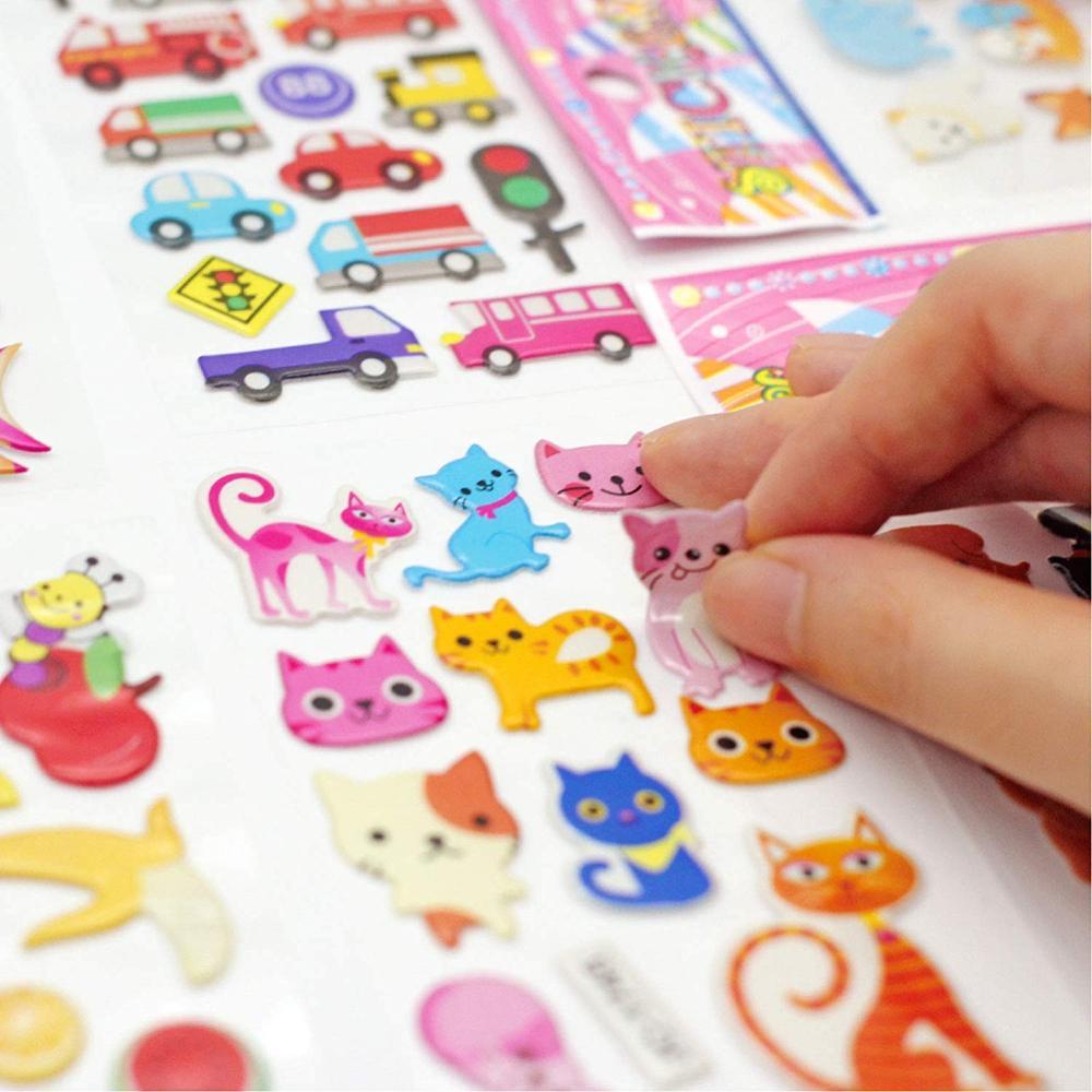 3D Puffy Stickers for Kids sticker, Bulk Stickers for Girl Boy Birthday Gift sticker, Toddlers Including Animals Stars sticker