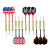 Soft Tip Darts 12 Pcs 18g Plastic Tip Darts Set with Brass Steel Barrels&Plastic Shafts with 100 PCS extra Tips