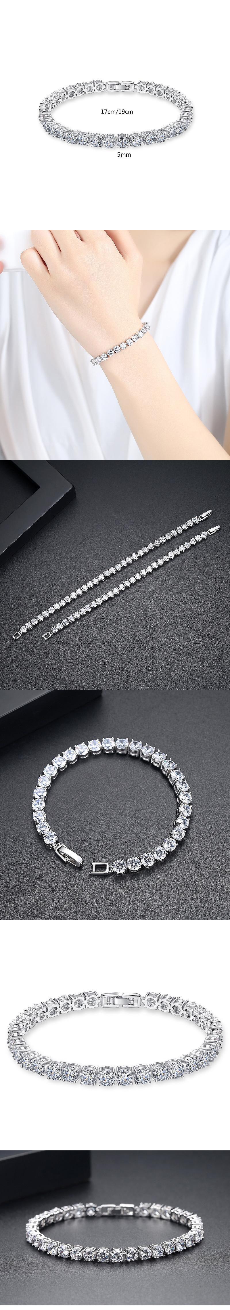 zircon tennis bracelet Gold Plated Tennis Bracelet jewelry set