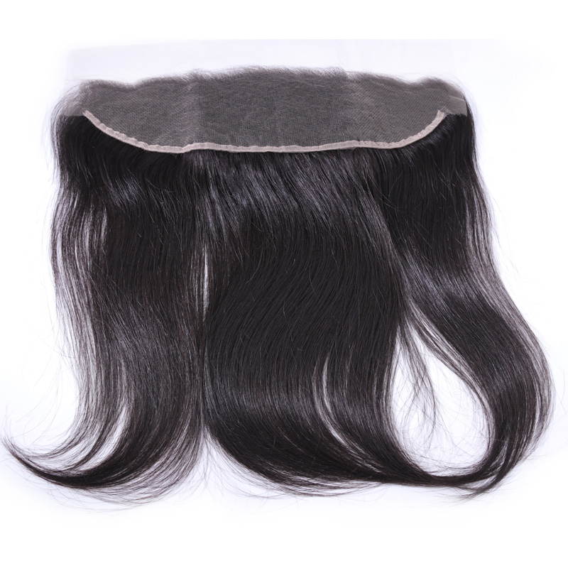 Customize Transparent Swiss Lace Lace Frontal 13X6 100% Virgin peruvian Human Hair Lace Frontals