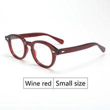 Ретро Круглый Ацетатный синий светильник, оправа для очков, мужские очки с прозрачными линзами, брендовые дизайнерские очки по рецепту, очк...(China)