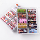 Nail Stickers For 10 Pcs/Box Nail Stickers For Manicure Transfer Paper Fingernail Art Decorations
