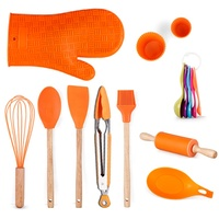 Silicone Cooking Utensils 14 pcs Kitchen Utensil Set Wooden Baking Utensil Kitchen Tool Set
