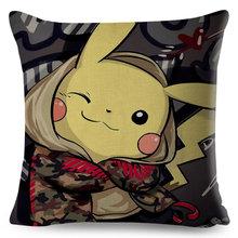 Классическая игра Pokemon Pikachu наволочка для подушки Декор модная мультяшная наволочка Подушка для дивана автомобиля домашняя плюшевая наволо...(Китай)