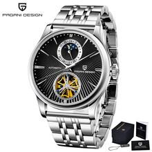 Водонепроницаемые 100 м автоматические механические мужские часы модные повседневные брендовые часы tourbillon для мужчин дизайнерские часы PAGANI(Китай)