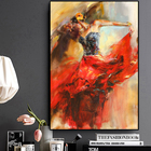 Art Picture Abstract Dancing Ballerina Girl Oil Painting On Canvas Scandinavian Posters And Prints Wall Art Picture For Living Room Cuadros