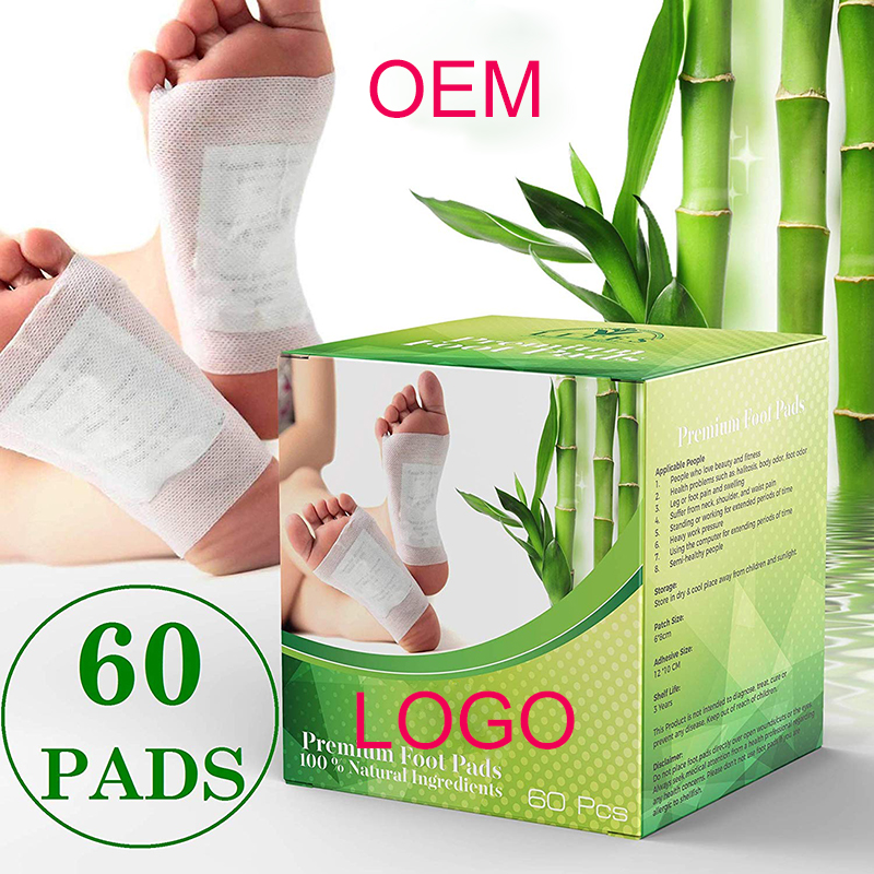 50pcs Cleansing Detox Foot Kinoki แผ่นทำความสะอาดและ Energize Your Body Relax Patch