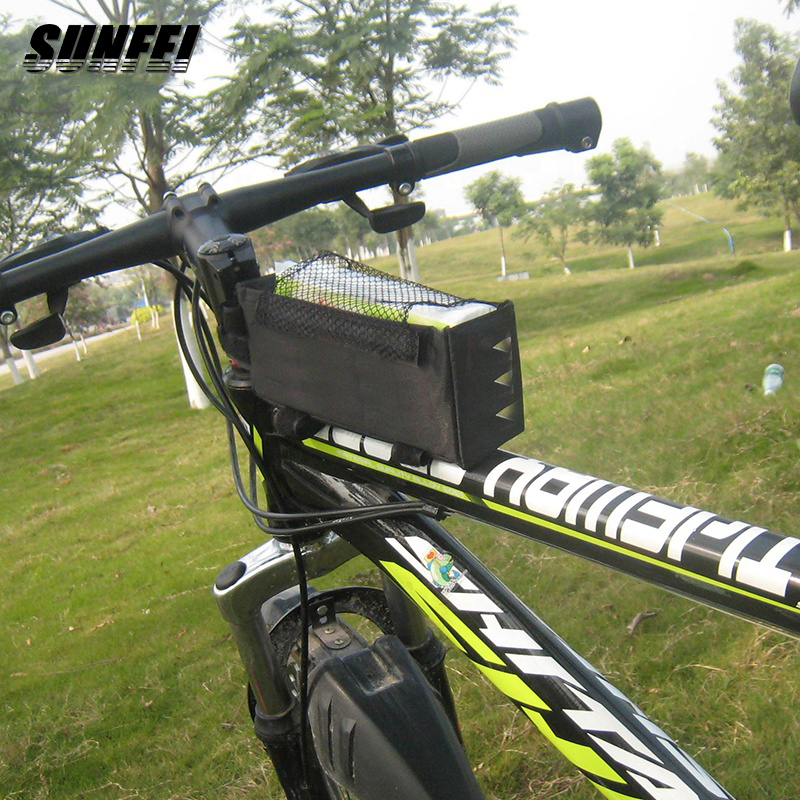 Sunfei Montanha Ao Ar Livre Bicicleta de Ciclismo Frente Quadro Top Tubo Bag Bicicleta Bolsa de PVC Clips para Calças para Ciclistas
