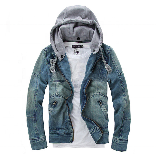 New arrival top brand high quality denim jacket man's fashion casual jeans coat