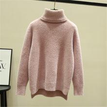 Женский Повседневный пуловер с длинным рукавом, однотонный шерстяной свитер с высоким воротником, Осень-зима 2019(Китай)