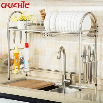 Dish Rack Over Sink Plate Drainer