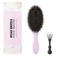 Best Boar Bristle and nylon Hair Brush Set for Long,Thick,Curly,Dry Reduce Hair Frizzy Wooden hair brush