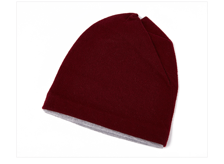 Winter wind proof warm wool knit high quality beanie hats